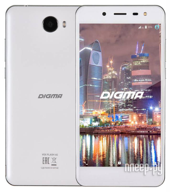Сотовый телефон Digma VOX Flash 4G White