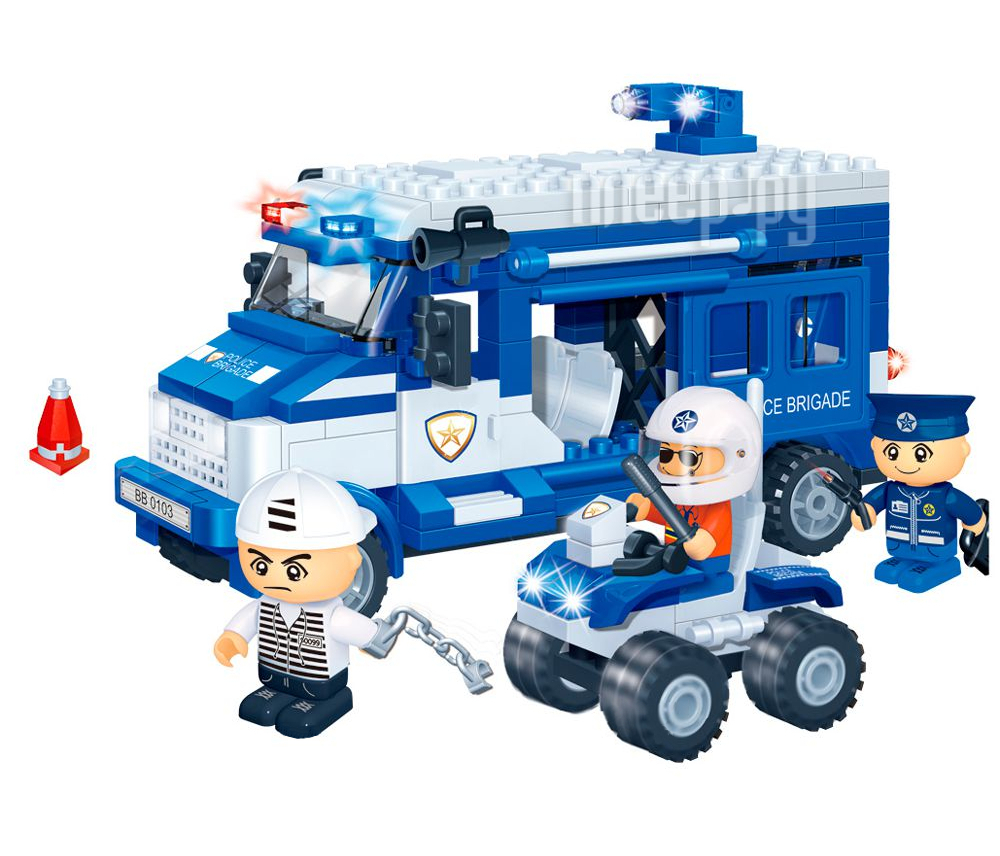 Конструктор BanBao Полицейская команда 250 дет. 8346