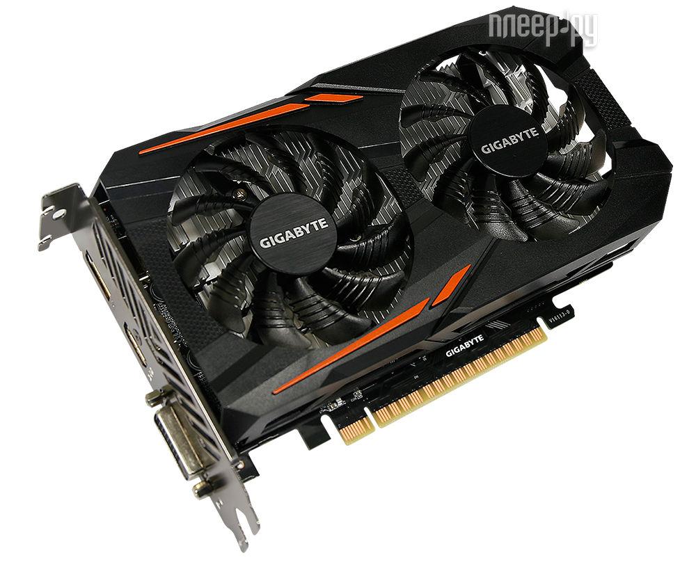 Видеокарта GigaByte GeForce GTX 1050 1379Mhz PCI-E 3.0 2048Mb 7008Mhz 128 bit DVI HDMI HDCP OC GV-N1050OC-2GD
