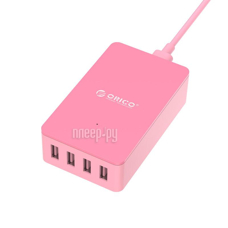 Зарядное устройство Orico CSE-4U Intelligent Detective IC 4-Ports Pink