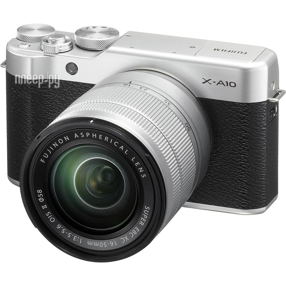 Фотоаппарат FujiFilm X-A10 Kit XC 16-50 mm F / 3.5-5.6 Silver купить