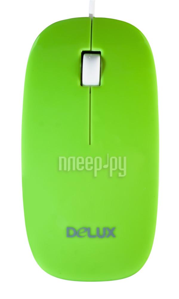 Мышь Delux DLM-111OUG Green