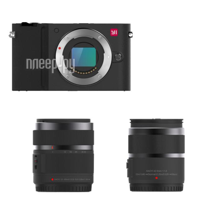 Фотоаппарат Yi M1 42.5mm F / 1.8 / 12-40mm F / 3.5-5.6 Black