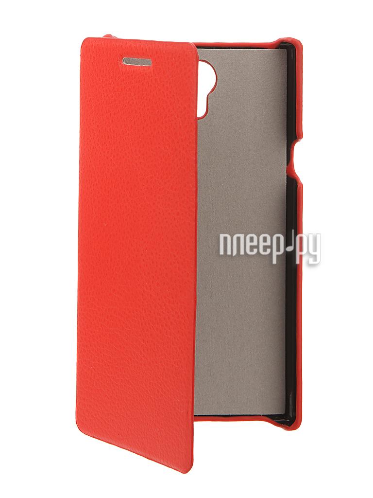 Аксессуар Чехол Philips S398 Cojess UpCase Red боковой