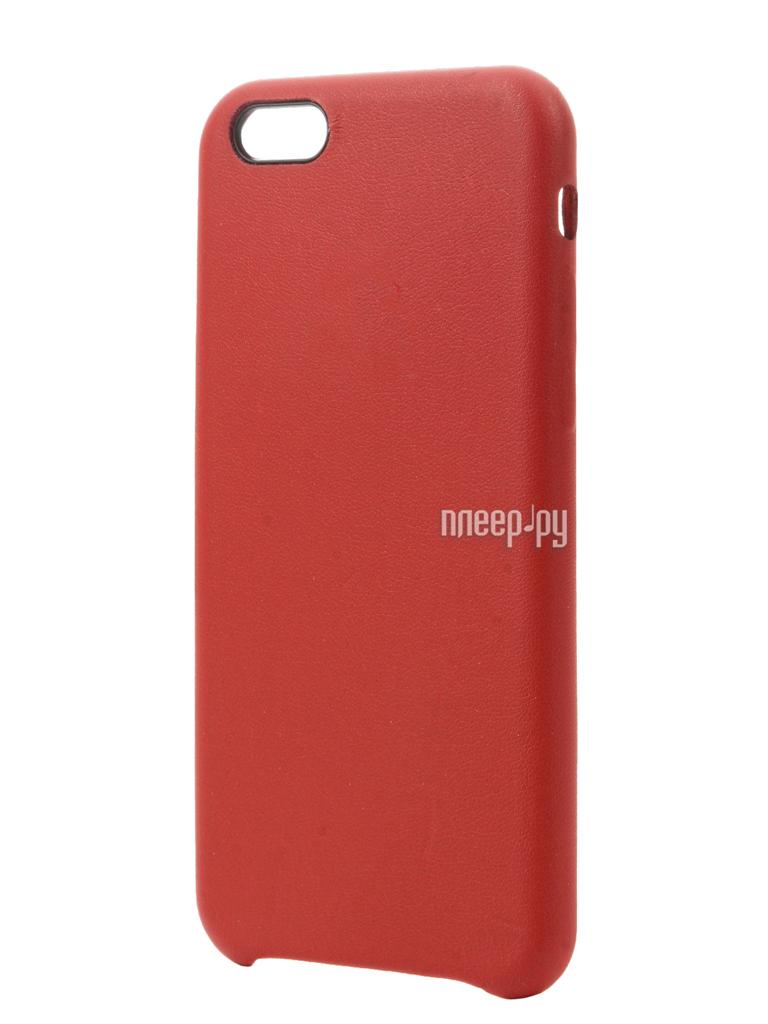Аксессуар Чехол Krutoff Leather Case для iPhone 6 / 6S Red 10755