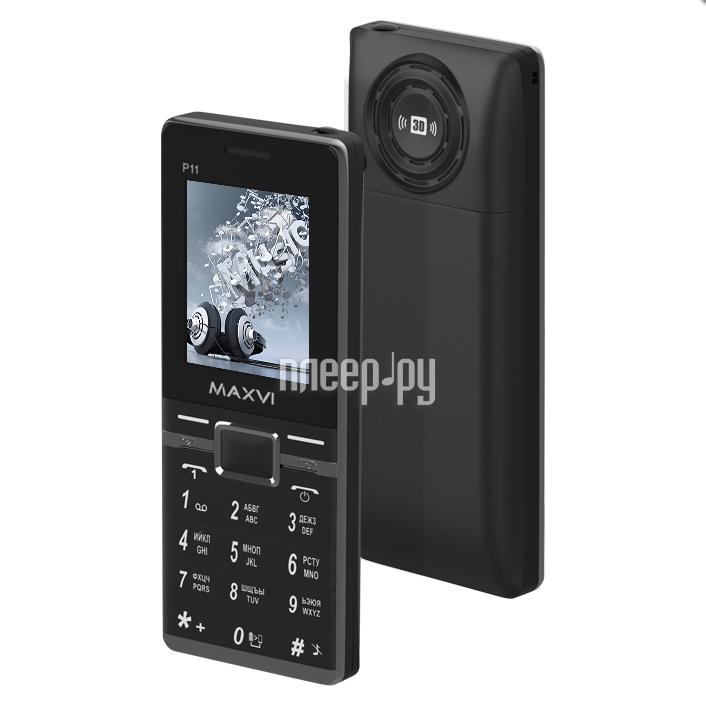 Сотовый телефон Maxvi P11 Black