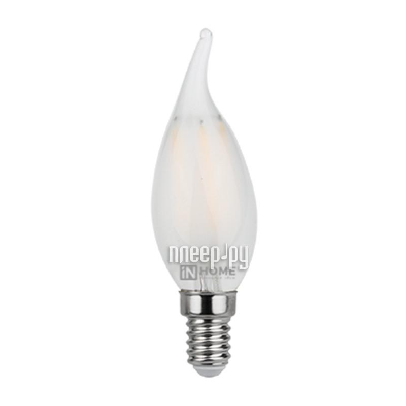 Лампочка IN HOME LED-СВЕЧА НА ВЕТРУ-deco 5W 4000K 230V 450Lm E14 Matte 4690612006802