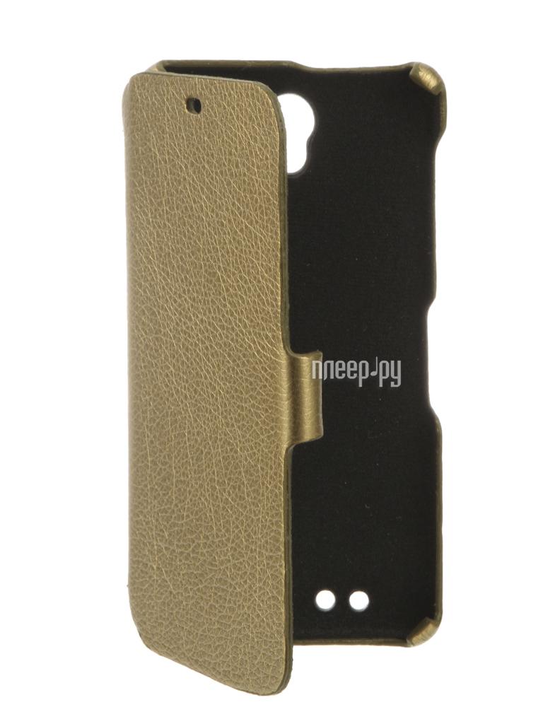 Аксессуар Чехол BQ BQS-5515 Wide Cojess Ultra Slim Book Экокожа флотер Gold купить