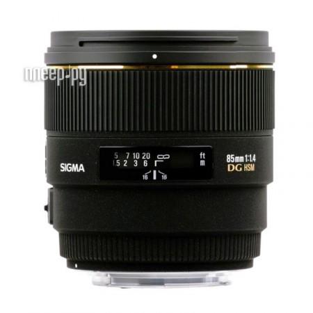 Объектив Sigma Canon AF 85 mm F/1.4 EX DG HSM  Pleer.ru  31877.000