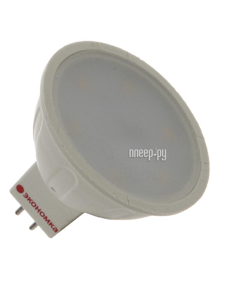 Лампочка Экономка 3W JCDR GU5.3 230V 3000K матовое стекло Eco_LED3WJCDRC30_fr