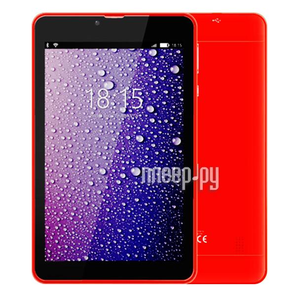 Планшет BQ BQ-7021G Hit Red (Spreadtrum SC7731 1.3 GHz / 512Mb / 8Gb / 3G / GPS / Wi-Fi / Cam / 7.0 / 1280x800 / Android)