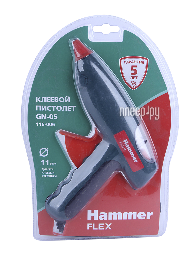 Термоклеевой пистолет Hammer Flex GN-05