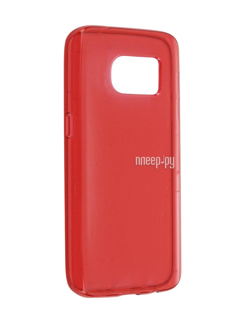 Аксессуар Чехол Samsung Galaxy S7 Cojess Silicone TPU 0.8mm Red глянцевый