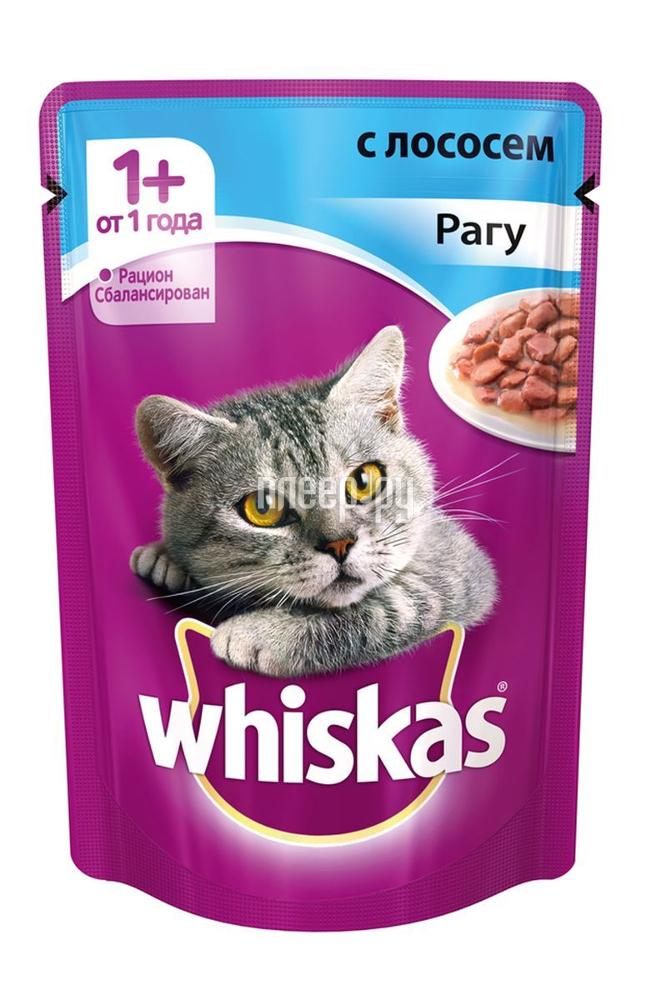 Корм Whiskas Пауч Рагу с лососем 85g для кошек 10155465 / 10137258
