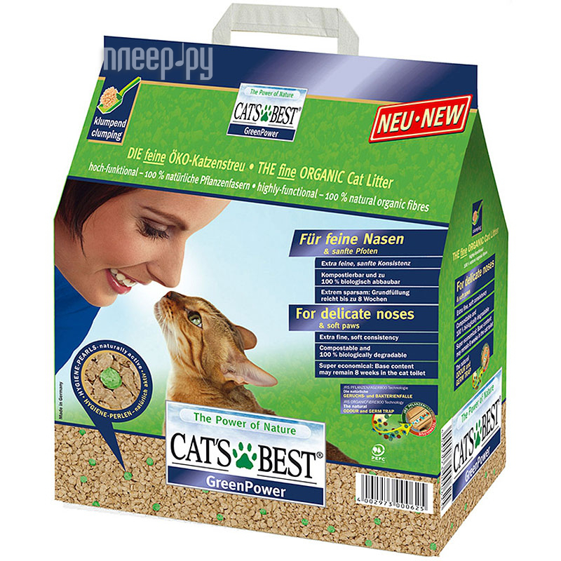 Наполнитель CatS Best Green Power 2.9kg