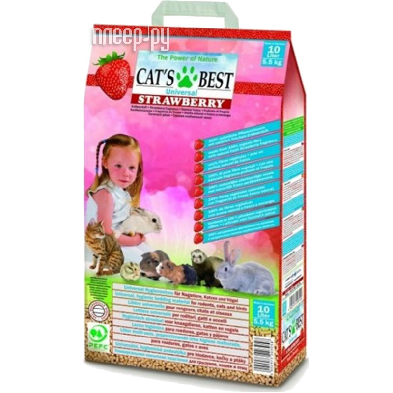Наполнитель CatS Best Universal Strawberry 5.5kg