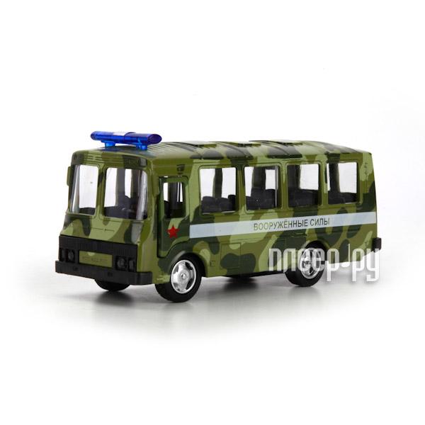 Машина Технопарк Автобус ПАЗ военный X600-H09137-R за 201 рублей