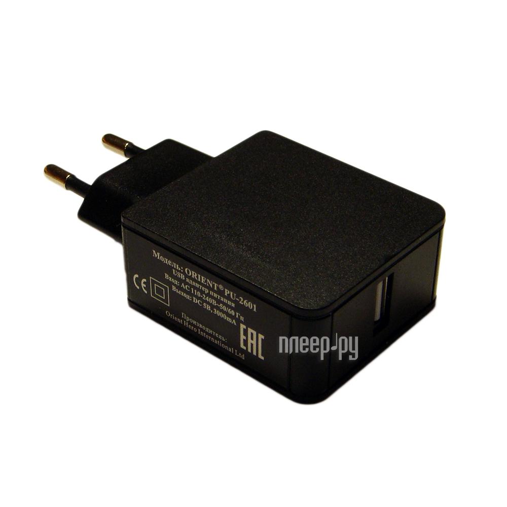 Зарядное устройство Orient PU-2601 Black 30266