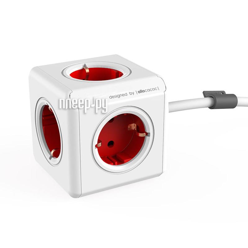 Сетевой фильтр Allocacoc PowerCube Extended 3m Red 1307/DEEXPC