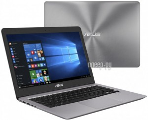 Купить Ноутбук ASUS UX310UA-FB408T 90NB0CJ1-M06160 Grey (Intel Core i3-7100U 2.4 GHz/4096Mb/500Gb/Intel HD Graphics 620/Wi-Fi/Bluetooth/Cam/13.3/3200x1800/Windows 10)