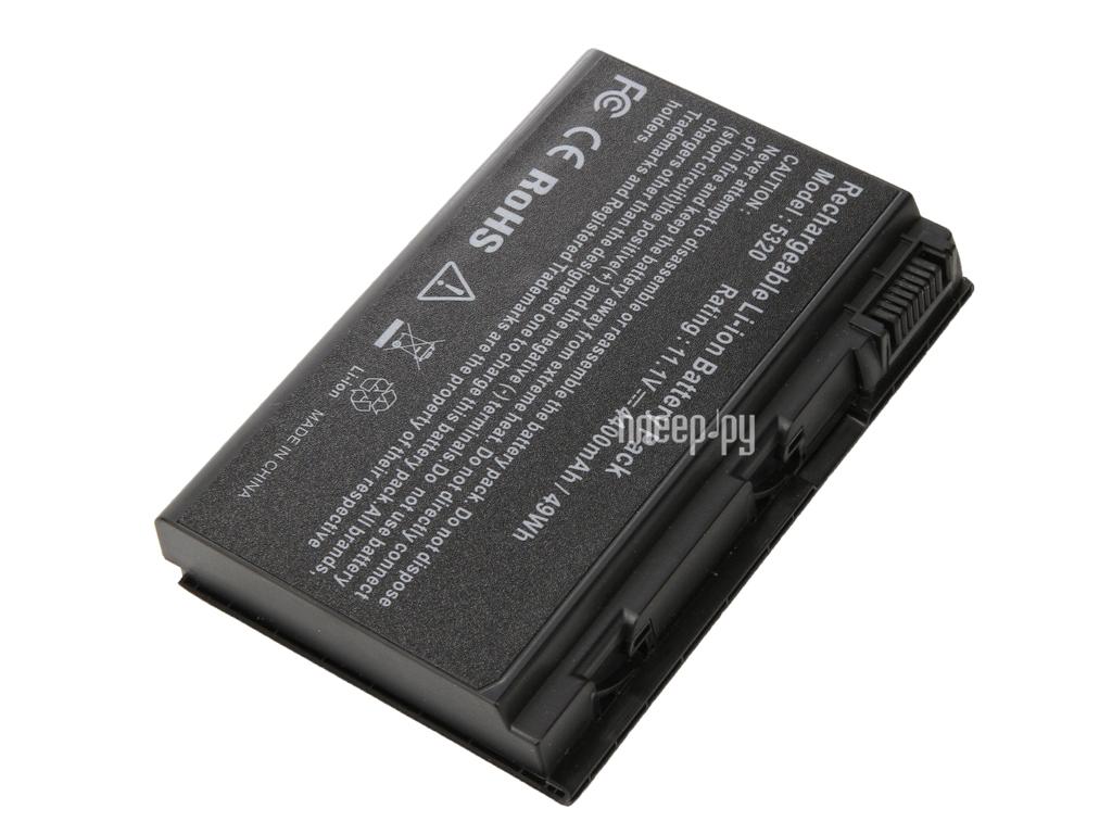 Аккумулятор 4parts LPB-5520 для Acer Extensa 5220/5620/7220/7620/TravelMate 5320/5520/5530/5720/6592/7720 Series 11.1V 4400mAh