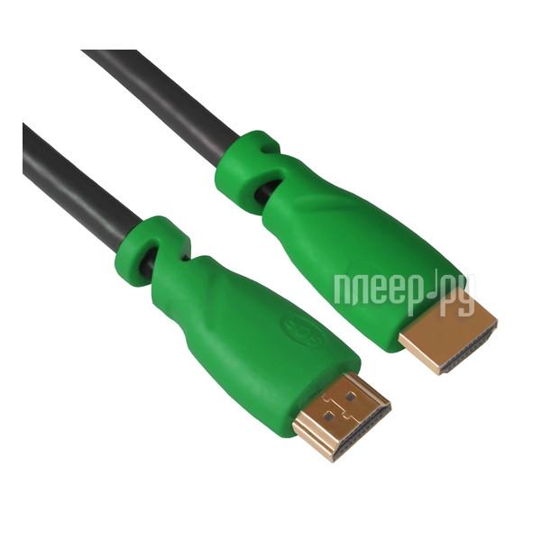 Аксессуар Greenconnect HDMI M / M v1.4 5m Black-Green GCR-HM321-5.0m