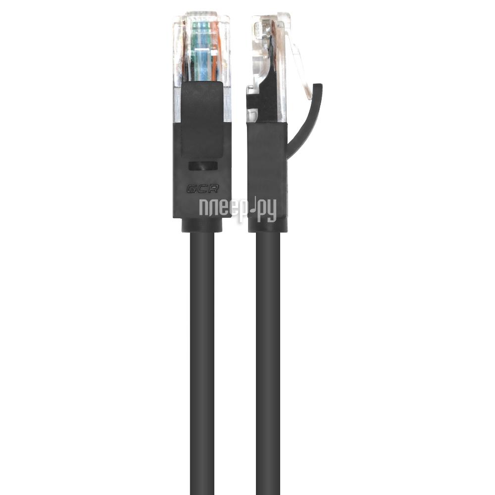 Аксессуар Greenconnect UTP 23AWG cat.6 RJ45 T568B 0.2m Black GCR-LNC606-0.2m