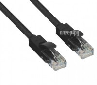 Сетевой кабель Greenconnect UTP 24AWG cat.5e RJ45 T568B 1.5m Black GCR-LNC06-1.5m