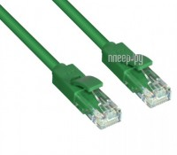 Аксессуар Greenconnect UTP 23AWG cat.6 RJ45 T568B 0.3m Green GCR-LNC605-0.3m