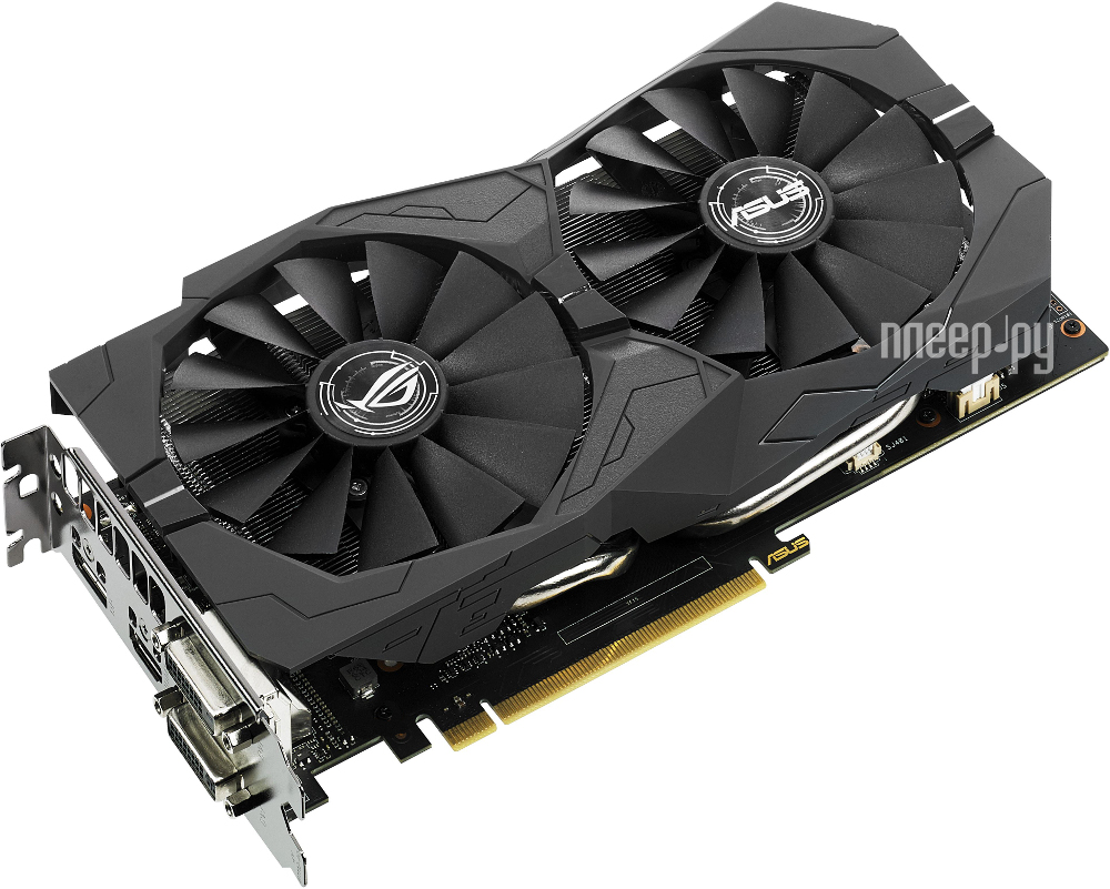 Видеокарта ASUS GeForce GTX 1050 1354Mhz PCI-E 3.0 2048Mb 7008Mhz 128 bit 2xDVI HDMI HDCP Strix Gaming STRIX-GTX1050-2G-GAMING 90YV0AD1-M0NA00