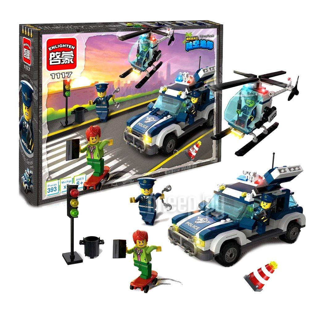 Конструктор Enlighten Brick Город 1117 Преследдование по земле и воздуху Г72905