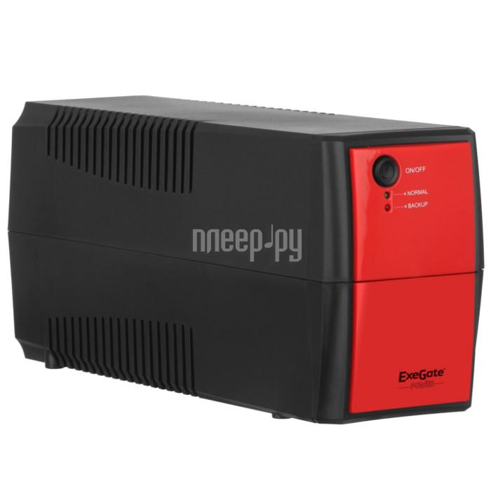Источник бесперебойного питания ExeGate Power Back BNB-600 600VA Black-Red 254853