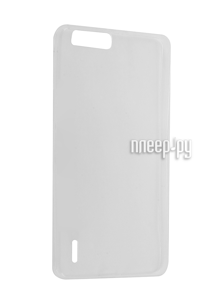 Аксессуар Чехол Huawei Honor 6 Plus Krutoff Silicone Transparent 11555
