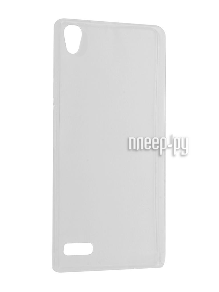 Аксессуар Чехол Huawei Ascend P6 Krutoff Silicone Transparent 11565