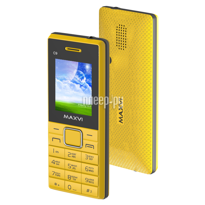 Сотовый телефон Maxvi C9 Yellow-Black