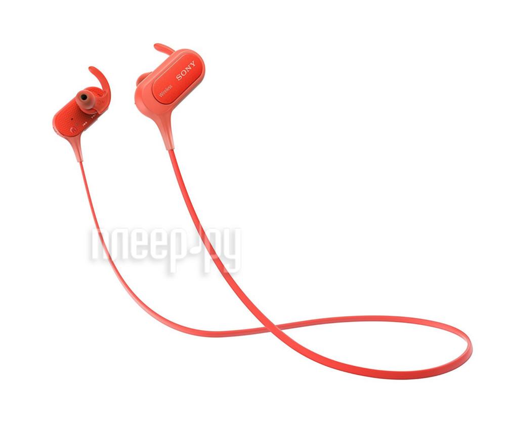 Гарнитура Sony MDR-XB50BS Red