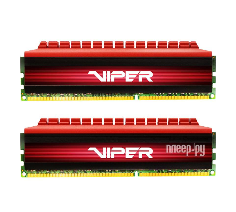 Модуль памяти Patriot Memory Viper DDR4 DIMM 2666MHz PC4-21300 - 16Gb KIT (2x8Gb) PV416G266C5K Red