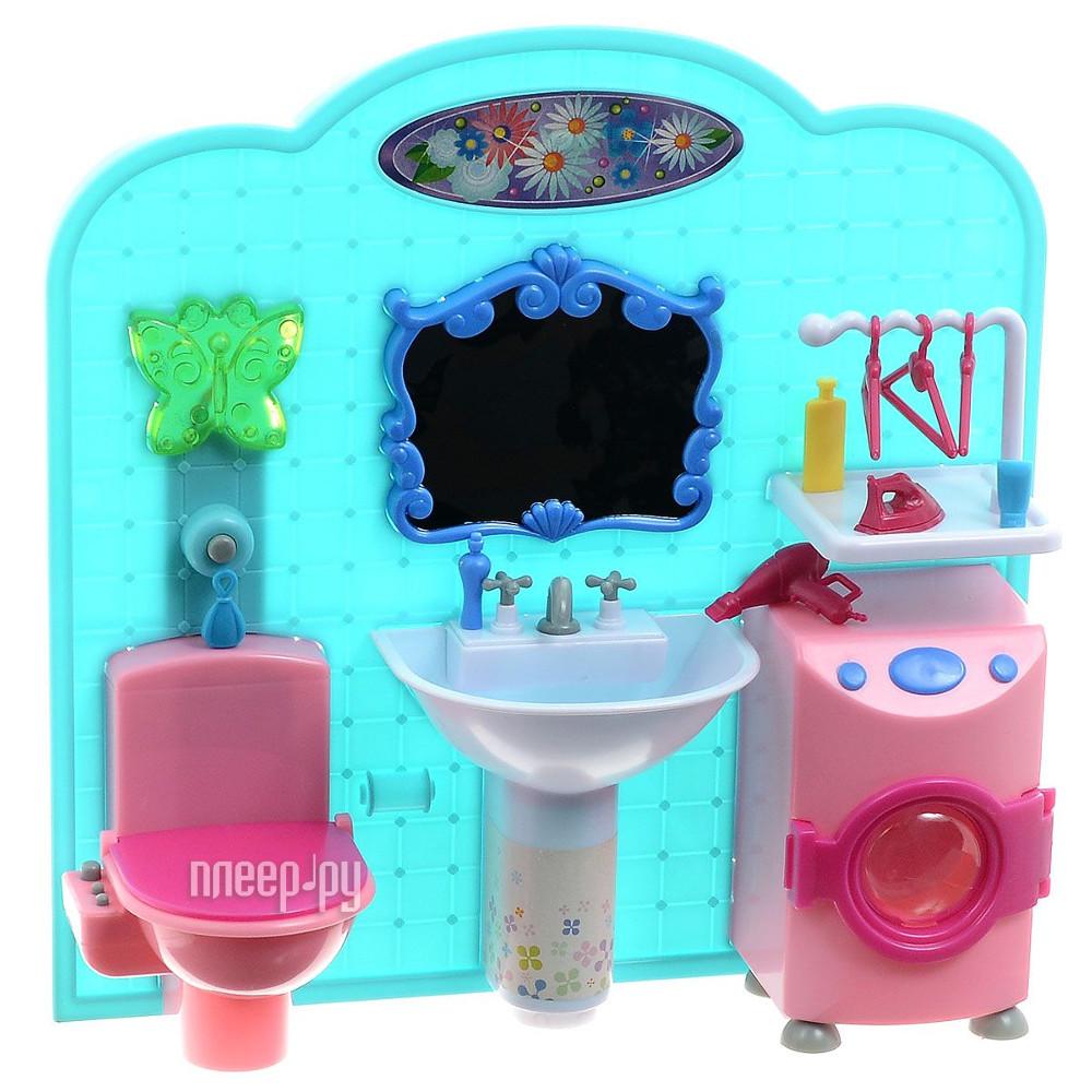 Игра 1Toy Красотка набор мебели для кукол, ванная комната 31x9.5x31cm Т54513