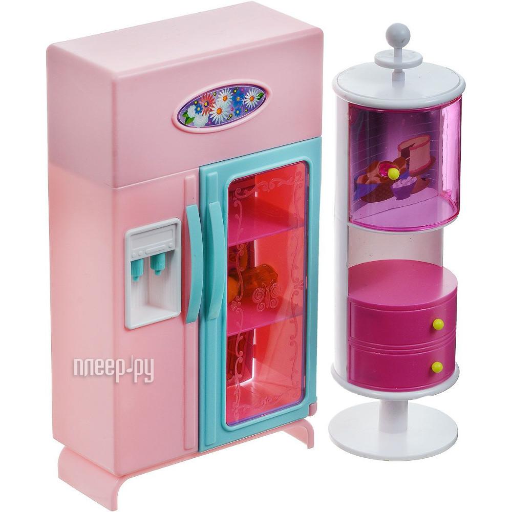 Игра 1Toy Красотка набор мебели для кукол, холодильник и буфет 31x9.5x31cm Т54511