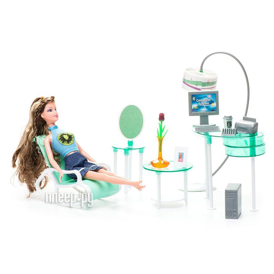 Кукла 1Toy Красотка набор мебели с куклой, домашний офис Т54498