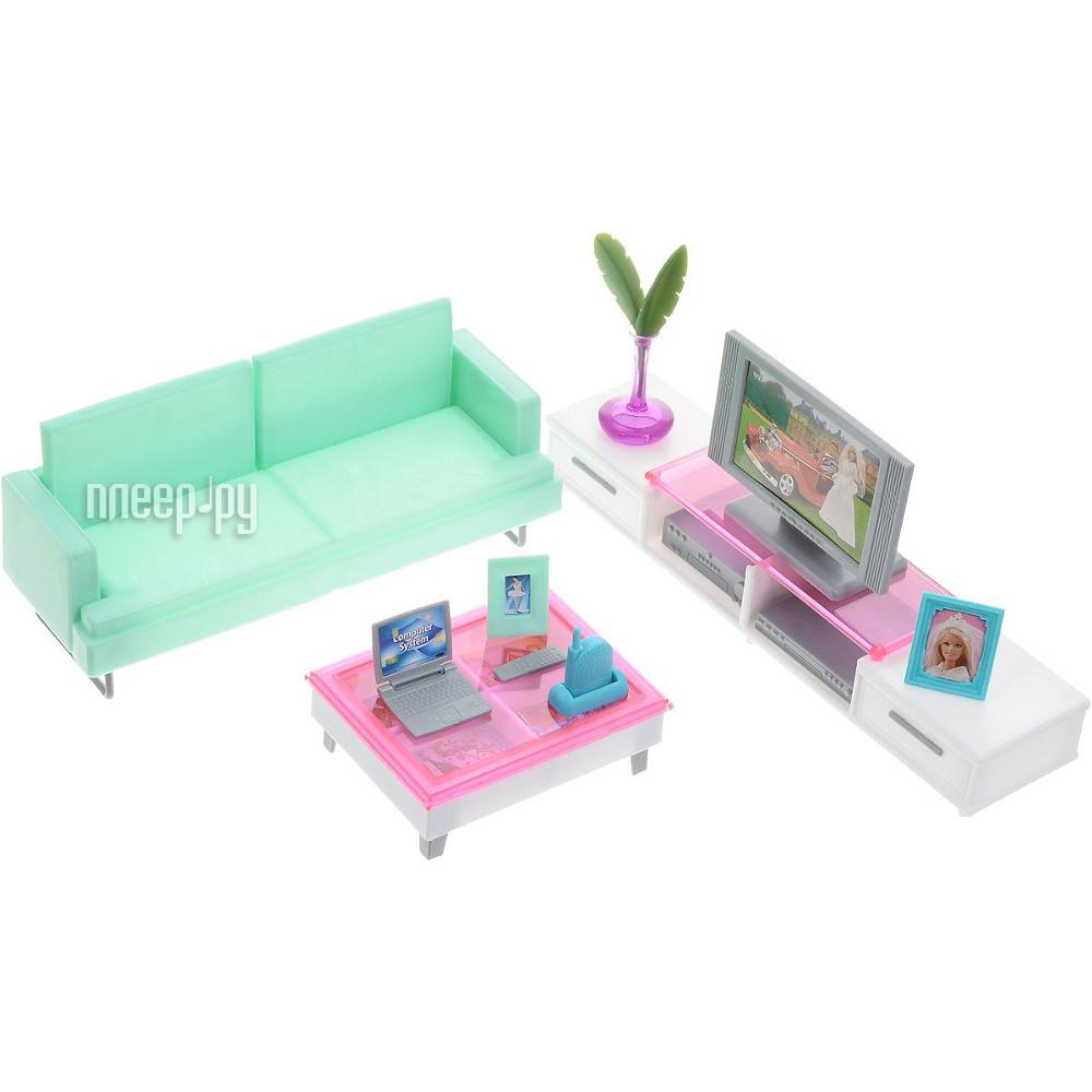 Игра 1Toy Красотка набор мебели для кукол, гостиная с телевизором Т52114