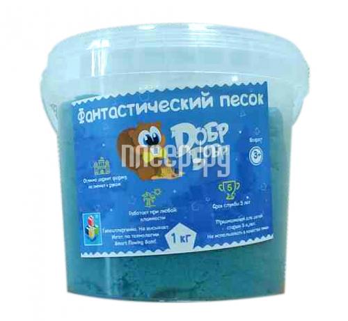 Набор для лепки Dобр Бобр Фантастический песок 1кг Blue Т10264