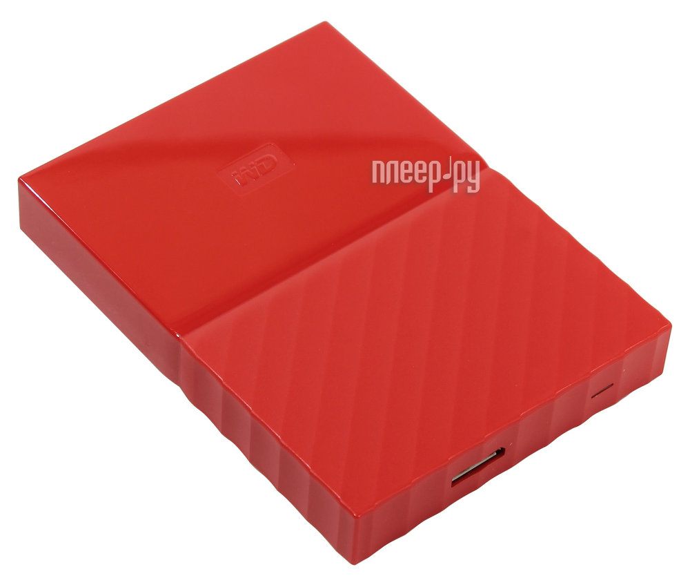 Жесткий диск Western Digital My Passport 1Tb Red WDBBEX0010BRD-EEUE