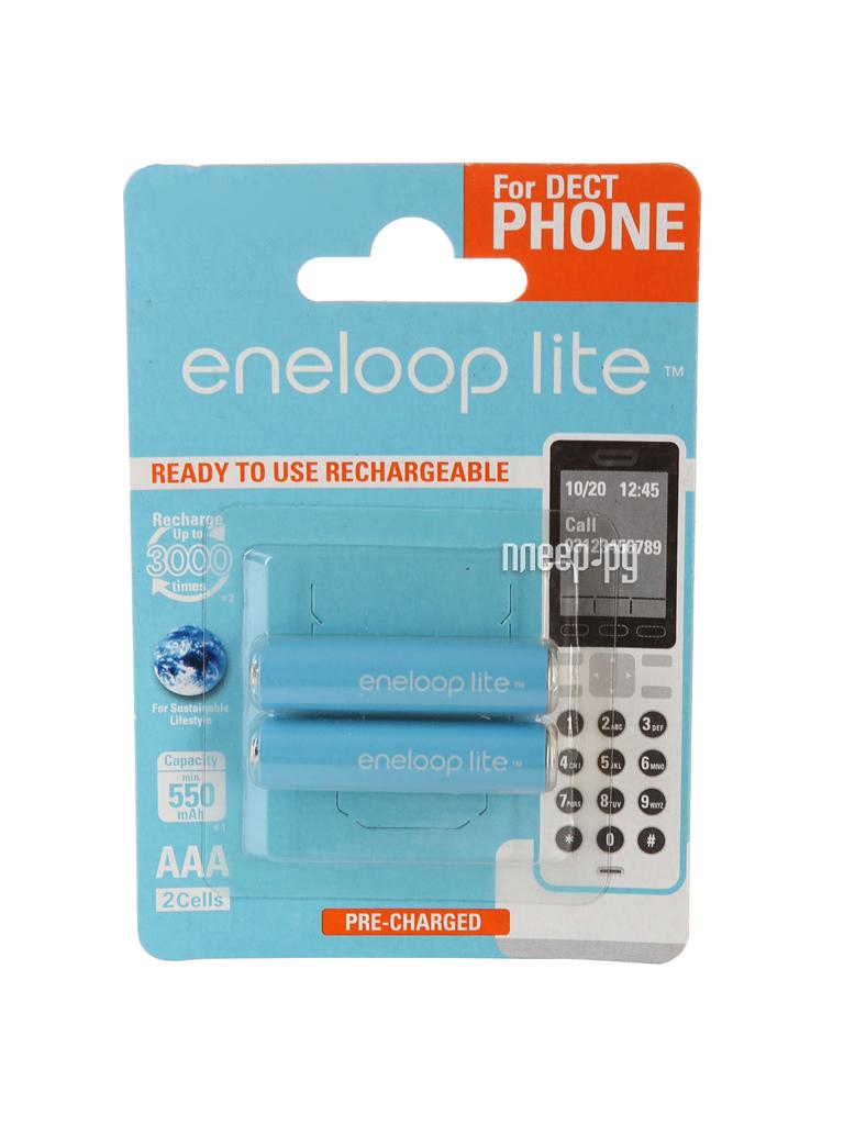 Аккумулятор AAA - Panasonic Eneloop Lite 550 mAh (2 штуки) BK-4LCCE/2DE 84889