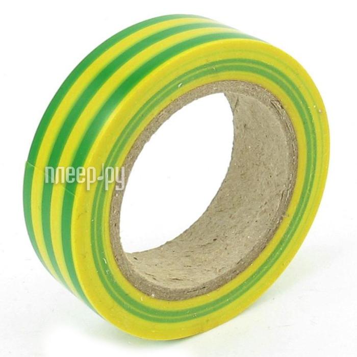 Изолента Rexant 15mm х 25m Yellow-Green 09-2107