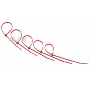 Купить Стяжки нейлоновые Rexant 300x5.0mm (25шт) Red 07-0306-25