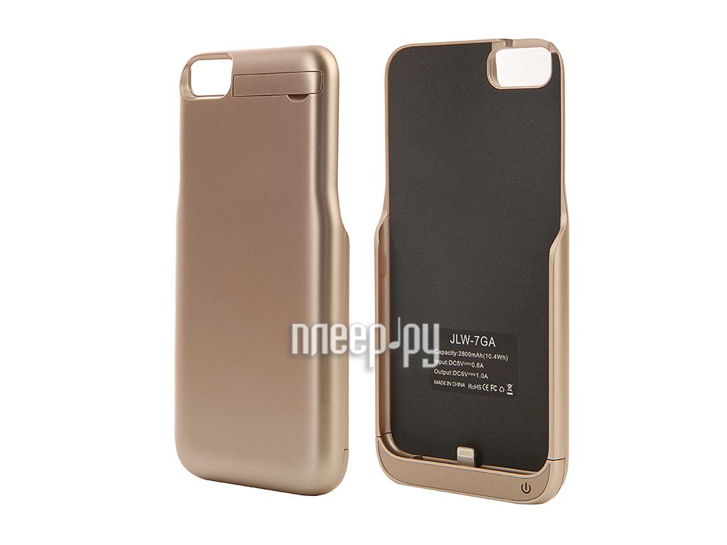 Аксессуар Чехол-аккумулятор Aksberry 2800 mAh для iPhone 7 Gold