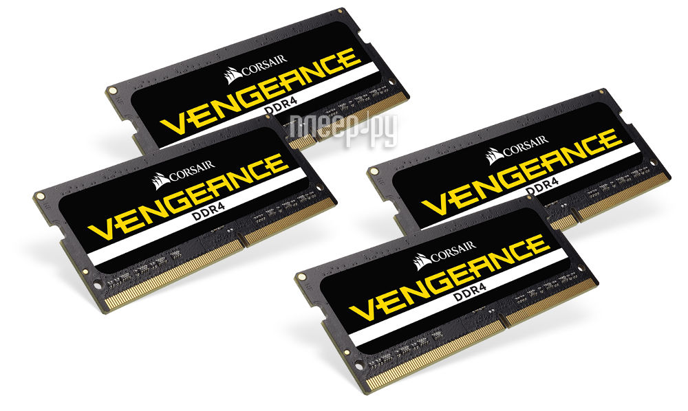 Модуль памяти Corsair Vengeance DDR4 SO-DIMM 2400MHz PC4-19200 CL16 - 64Gb KIT (4x16Gb) CMSX64GX4M4A2400C16