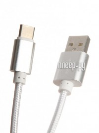 Аксессуар Aksberry USB AB Type C Silver