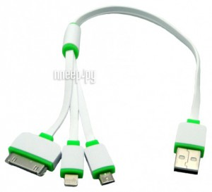 Купить Аксессуар Sapfire Mobile Micro USB - 8pin / 30pin SAM-0904 White